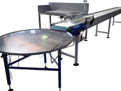 Conveyor and Rotating Table from EQM Industrial