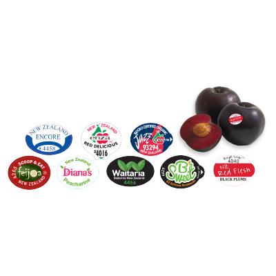 Unique fruit labels by EQM Industrial